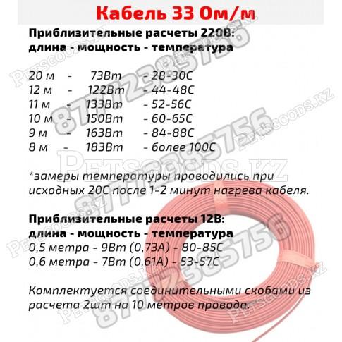 Провод нагревательный углеродный 33 Ом/м